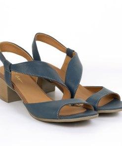 Sandale dama din piele naturala Vega albastru denim
