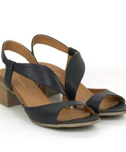 Sandale dama din piele naturala Vega bleumarin