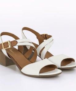 Sandale dama din piele naturala Lucinda alb