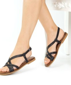 Sandale dama din piele naturala Sevilla negru