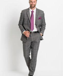 Costum (2piese): sacou și pantaloni - gri