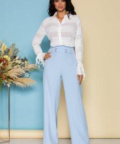 Pantaloni Dora bleu eleganti