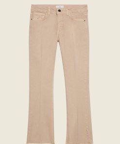 Pantaloni cu croiala ampla si terminatii franjurate 2758482