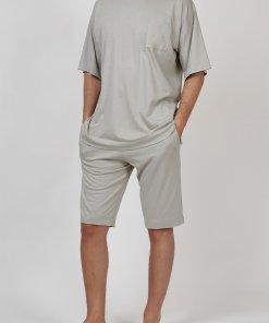 Pijama din amestec de bumbac - cu buzunar pe piept 2838274