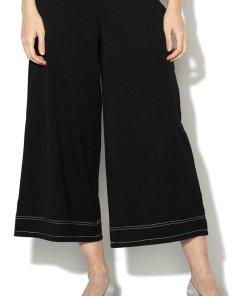 Pantaloni cu talie inalta si croiala ampla 1793045