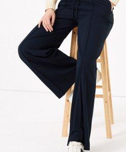 Pantaloni cu croiala ampla si talie cu snur de ajustare 2714999