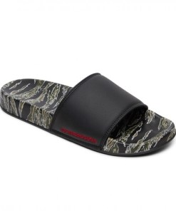 Slapi barbati DC Shoes SE Leather Slider Thongs ADYL100044-GBK