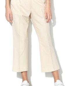 Pantaloni capri texturati cu croiala ampla 1750423