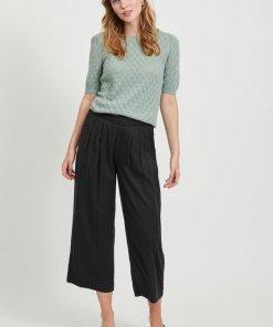 Pantaloni crop din lyocell cu croiala ampla 2878454