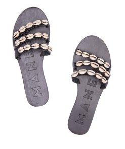 Papuci din piele decorati cu scoici Ibiza 2730584