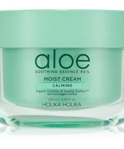 Holika Holika Aloe Soothing Essence crema de fata hidratanta cu efect racoritor HLKALOW_KFCR65