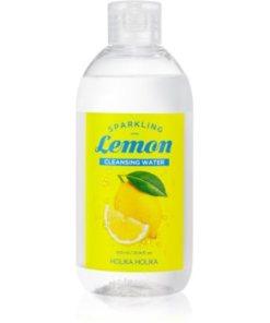 Holika Holika Sparkling Lemon Lapte demachiant pentru tenul gras și problematic cu apa termala HLKSLMW_KMUR01