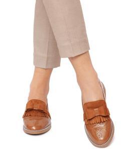 Pantofi dama Shay cu aspect lacuit Maro