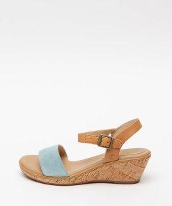 Sandale din piele si piele intoarsa cu talpa wedge Whitter 2752470
