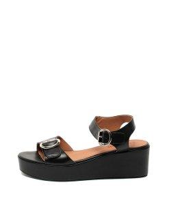 Sandale wedge de piele cu barete cu catarame 2015588