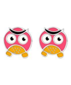 Cercei Argint 925 pentru copii, Pink & Yellow Talking Fish