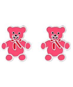 Cercei Argint 925 pentru copii, Little Pink Bear