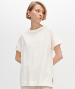 Reserved - Tricou vopsit natural - Ivory