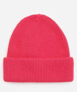 Reserved - Căciulă din tricot striat - Roz