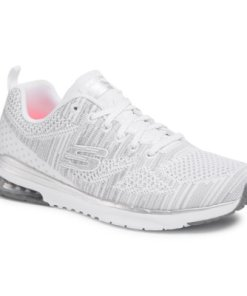 Adidași Skechers Stand Out 12114 Material - Alb