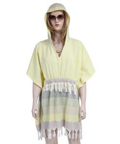 Rochie de plaja dama Peshtemal Strip Lemon Yellow 1.00E+06