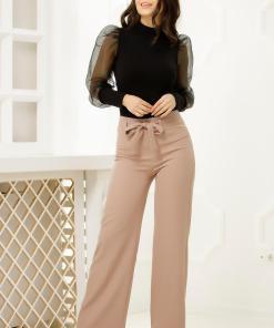 Pantaloni Ramia Bej-Nude