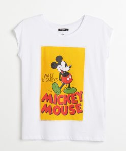 Reserved - Tricou Mickey Mouse - Alb