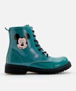 Reserved - Ghete de drumeție Mickey Mouse, lăcuite - Verde