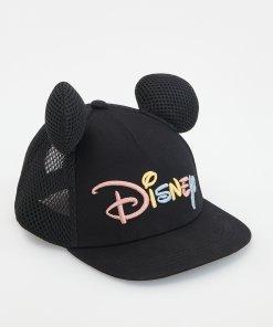 Reserved - Șapcă Disney, cu urechiușe decorative - Negru