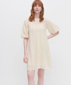 Reserved - Rochie din tricot - Ivory