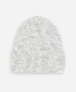 Reserved - Căciulă din tricot striat - Gri deschis