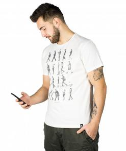 Tricou Phone Zombies SS vintage white
