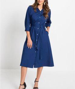 Rochie-cămașă - albastru