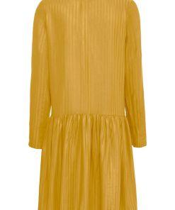 Rochie tip cămașă - galben