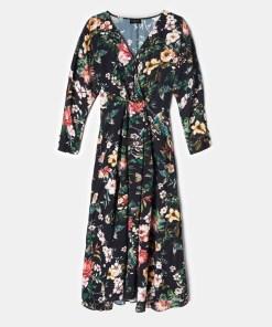 Mohito - Rochie din viscoză cu imprimeu floral - Negru