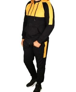 Trening gros vatuit bleumarin cu galben Style pentru barbat - cod 38763
