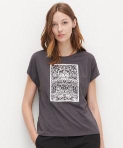 Reserved - Tricou din amestec de bumbac și modal - Gri