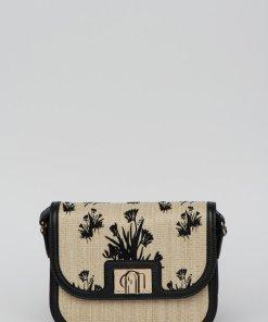 Geanta crossbody din piele cu detalii din paie de hartie 1927 2808240