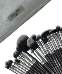 Set 20 pensule machiaj SensoPRO Milano, Black Silver + Borseta Cadou