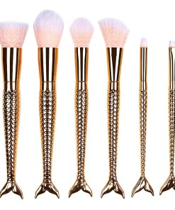 Set 6 pensule profesionale machiaj Mermaid Rose Gold Collection