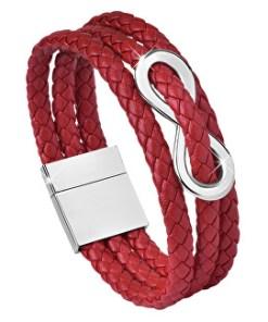 Brățară roșie din piele Infinity