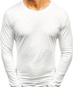 Long sleeve fără imprimeu pentru bărbat alb Bolf 1209