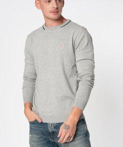 Pulover slim fit din tricot fin cu aplicatie logo 3065115