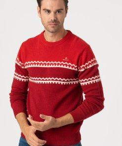 Pulover din amestec de lana - cu model colorblock 3177360