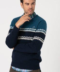Pulover din amestec de lana - cu model colorblock 3177404