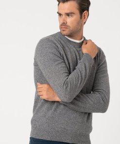 Pulover din amestec de lana - tricotat fin - cu aspect texturat 3177515