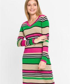 Rochie tricotată cu Lurex - roz