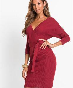 Rochie tricotată - roșu