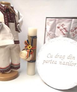 Set Traditional Botez Baiat - Costumas + Trusou + Cutie + Lumanare 5