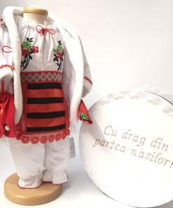 Set Traditional Botez Fetita - Costumas + Cutie trusou 2